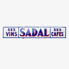 Cartel publicitario Ses Vins Sedal Ses Cafes vintage, 1950