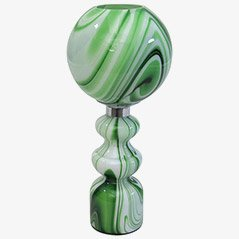Green Marbled Glass Table Lamp by Carlo Moretti, 1970s