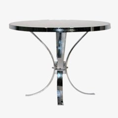 Round Table with Chrome Frame, 1970s