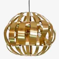 Deckenlampe aus Aluminium von Max Sauze, 1970er
