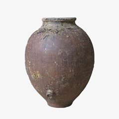 Antique Spanish Clay Jar, 19th Century