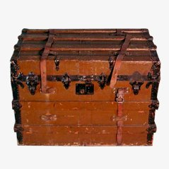 Antiker Reisekoffer auf Rollen, 19. Jahrhundert