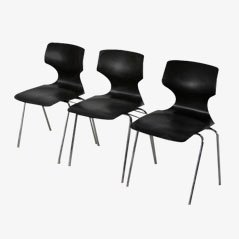 Stackable Pagwood Chairs by Flötotto, 1960s, Set of 3