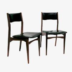 Skandinavische Vintage Stühle, 1950er, 2er Set