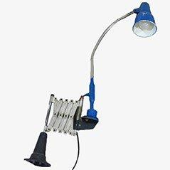 Lámpara de trabajo industrial con brazo tijera, años 50