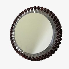 Round Illuminated Mirror by Emil Stejnar for Rupert Nikoll Wien