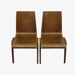 Stapelbare Industrie Stühle, 1930er, 2er Set