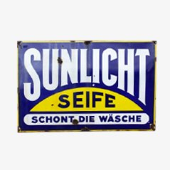 Large Vintage Sunlicht Enamel Sign