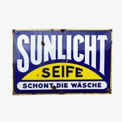 Large Vintage Sunlicht Enamel Sign