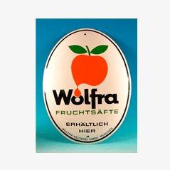 Panneau Publicitaire Wolfra Fruchtsäfte Vintage en Email