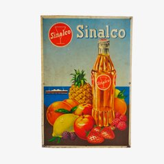Industrie Werbeschild aus Blech von Sinalco