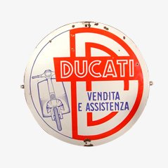 Panneau Publicitaire Vintage Ducati, Italie