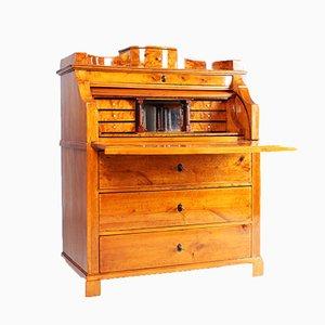 Antique Biedermeier Birch Secretary with a Secret Compartment, 1830s