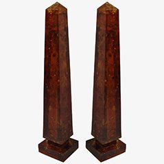 Illuminated Fractal Obelisk Lamps by Henri Fernandez, 1972, Set of 2