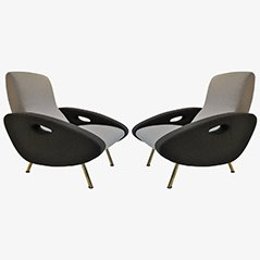 Vintage Armchairs by Marco Zanuso for Arflex, 1950s, Set of 2
