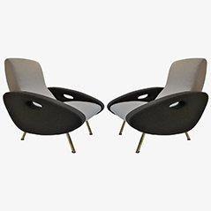 Vintage Sessel von Marco Zanuso für Arflex, 1950er, 2er Set