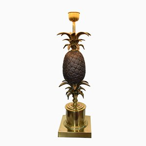 Grande Lampe Ananas Vintage en Laiton et Bronze
