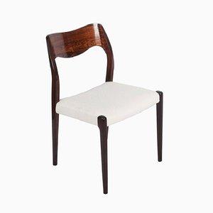 Chaise de Salon Model 71 Vintage en Palissandre par Niels O. Møller pour J.L. Møllers