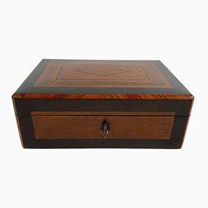 Restaurierte Biedermeier Schachtel aus Birdseye Ahorn, Ebenholz & Palisander, Österreich, 1820er