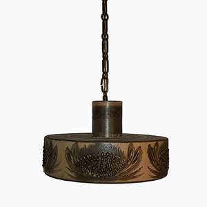 Vintage Scandinavian Ceramic Pendant Lamp