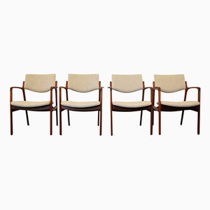 Vintage Danish Teak Armchairs by Finn Haugaard for Brondo Gravesen Snedkerier, Set of 4