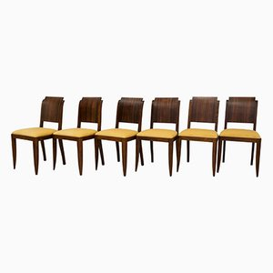 Art Deco Style French Chairs, 1960s, Set of 6