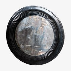 Vintage Runder Spiegel, 1890er