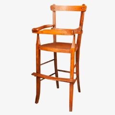 Vintage Children's High Chair, circa 1900