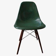 Grüner Vintage DSW Stuhl von Charles & Ray Eames für Vitra