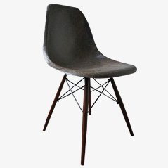 Vintage Brown DSW Chair by Charles & Ray Eames for Vitra