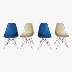 DSR Dining Chairs by Charles & Ray Eames for Vitra, Set of 4