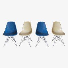 DSR Esszimmerstühle von Charles & Ray Eames für Vitra, 4er Set