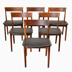 Mid-Century Rosewood Dining Chairs by Henry Rosengren for Brande, Set of 6