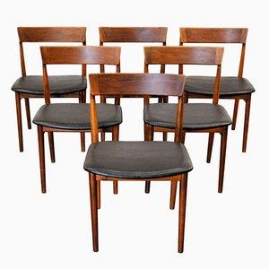 Sedie da pranzo Mid-Century in palissandro di Henry Rosengren per Brande, set di 6