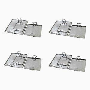 Colony Tabletts aus poliertem Aluminium von Aldo Cibic für Paola C., 4er Set