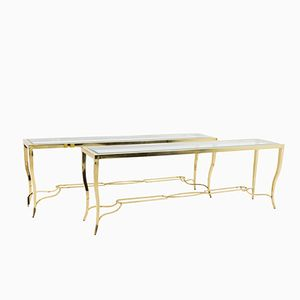 Modern Gilt Brass Consoles, 1980s, Set of 2