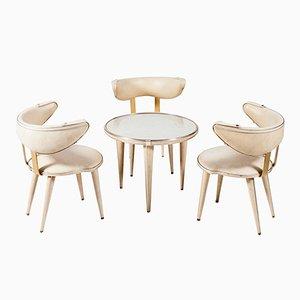 Armlehnstühle & Tisch von Umberto Mascagni, 1950er