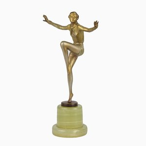 Art Deco Bronze Statue by Josef Lorenzl, 1920s