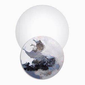Specchio Overlap No. 13 con mensola di Elisa Strozyk