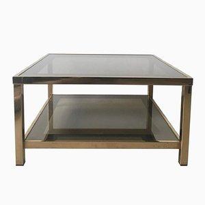 Mesa de centro bañada en oro de 23 quilates, años 60