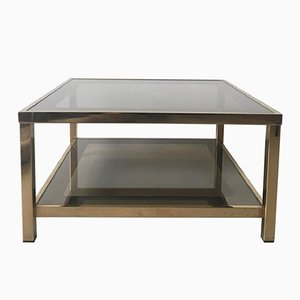 Table Basse en Plaqué Or 23 Carats, 1960s
