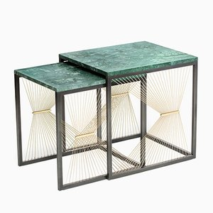 AEGIS 001 Nesting Tables by Ziad Alonaizy, Set of 2