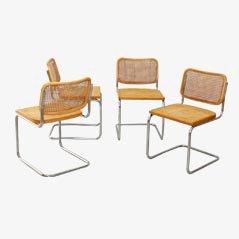 Cesca Esszimmerstühle von Marcel Breuer für Gavina, 4er Set