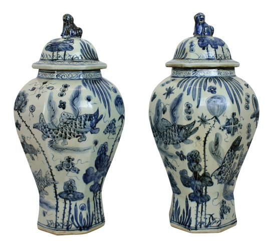 Antique Chinese Vases Set Of 2 For Sale At Pamono