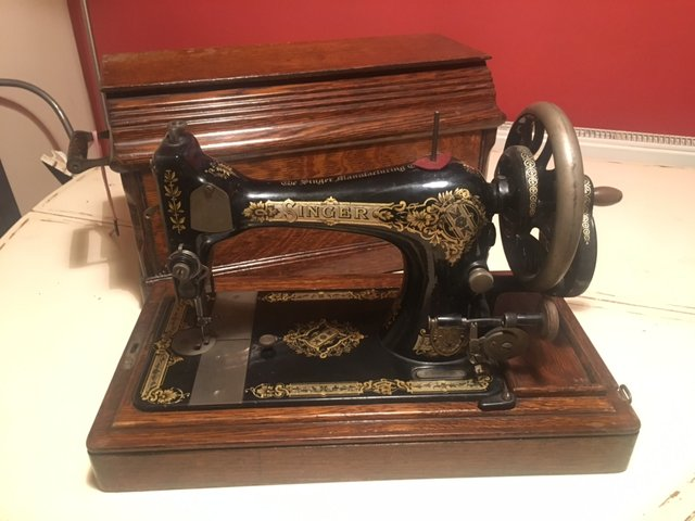 40k Hand Crank Sewing Machine From Singer 40 For Sale At Pamono Adorable Singer Hand Crank Sewing Machine