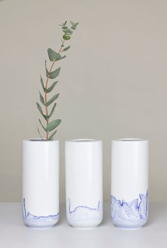 Tide Vase aus der Blue Sunday Series von Anna Badur bei Pamono kaufen