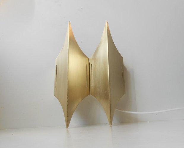 d nische skulpturelle gothic ii messing wandlampe von lyfa 1960er bei pamono kaufen. Black Bedroom Furniture Sets. Home Design Ideas