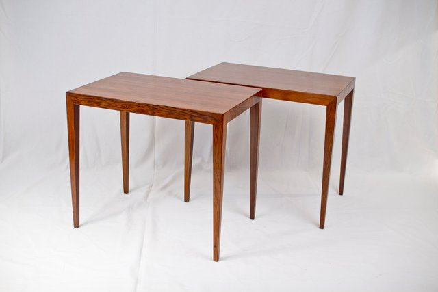 Mid Century Brazilian Rosewood Side Tables By Severin Hansen Set Of 2 For At Pamono