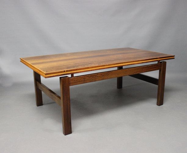 Danish Rosewood Coffee Table With Floating Top 1960s For Sale At Pamono