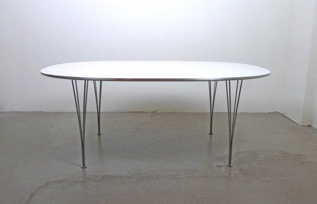 Skandinavischer Moderner Elliptical Tisch Von Piet Hein, Bruno Mathsson Und  Arne Jacobsen Für Fritz Hansen, 1968 Bei Pamono Kaufen